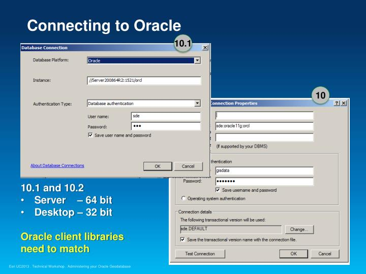 Connecting to Oracle