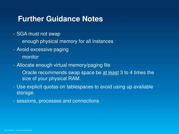 Further Guidance Notes