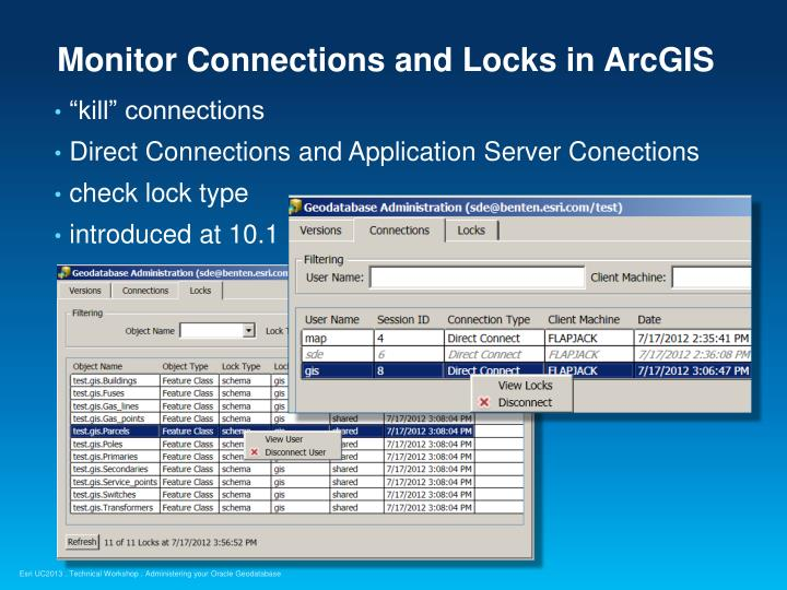 Monitor Connections and Locks in ArcGIS
