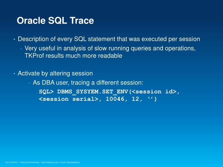 Oracle SQL Trace