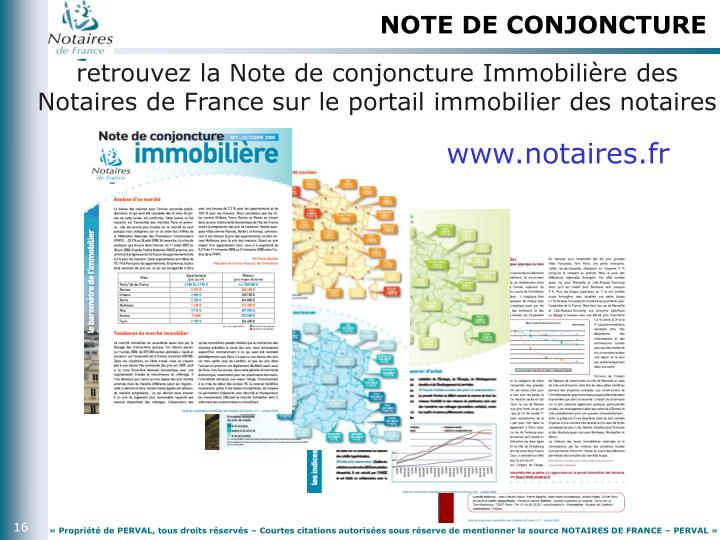 NOTE DE CONJONCTURE