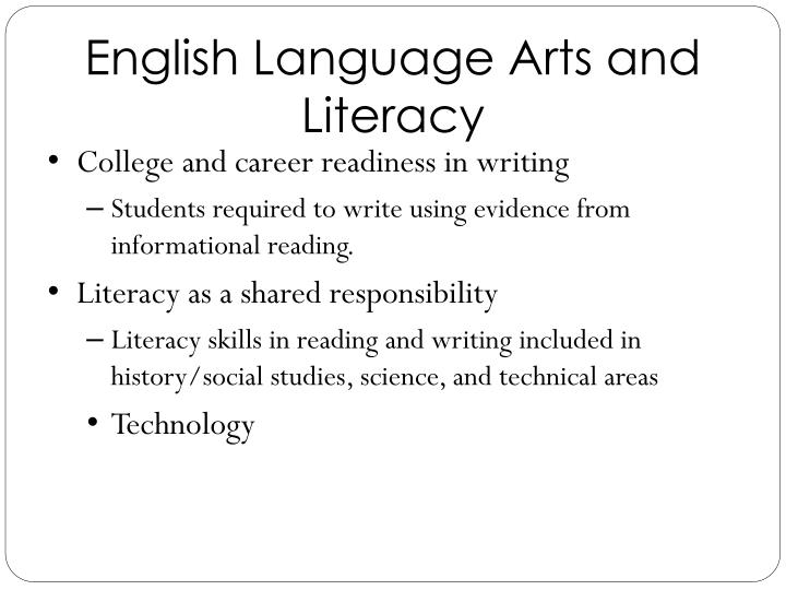 English Language Arts and Literacy