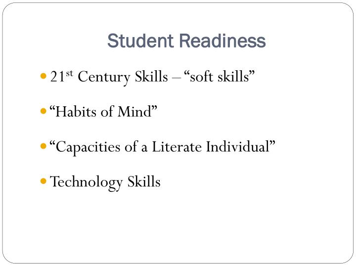 Student Readiness
