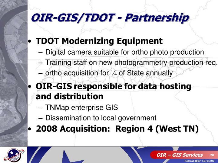 OIR-GIS/TDOT - Partnership
