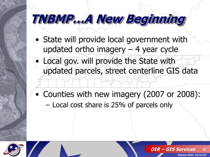 TNBMP…A New Beginning