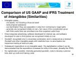 comparison of us gaap and ifrs treatment of intangibles similarities