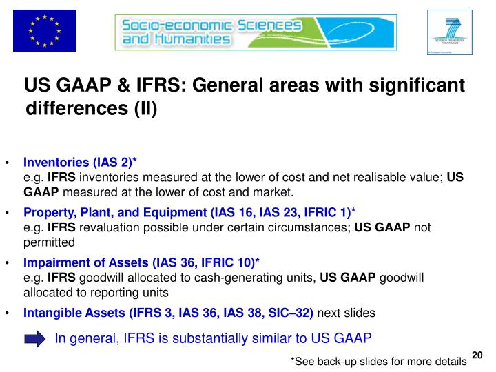 US GAAP & IFRS: General areas with significant differences (II)
