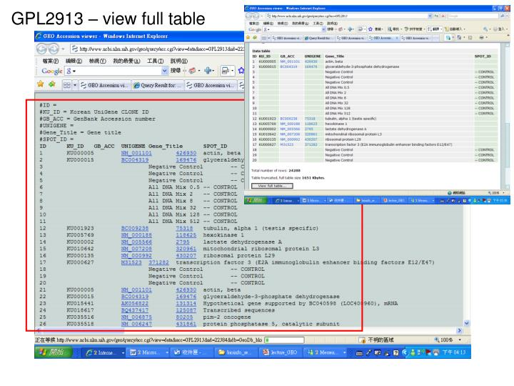 GPL2913 – view full table