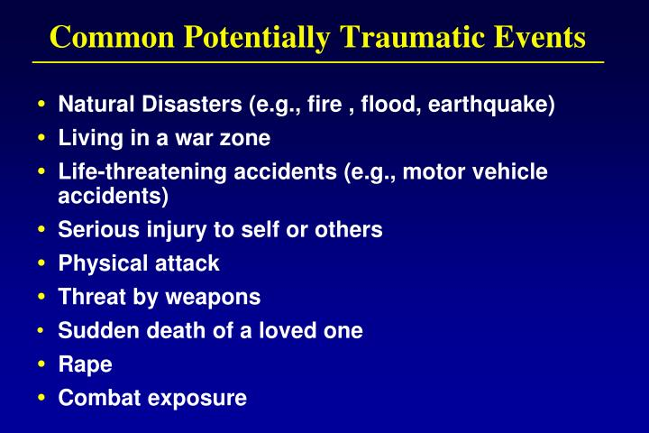 Common Potentially Traumatic Events