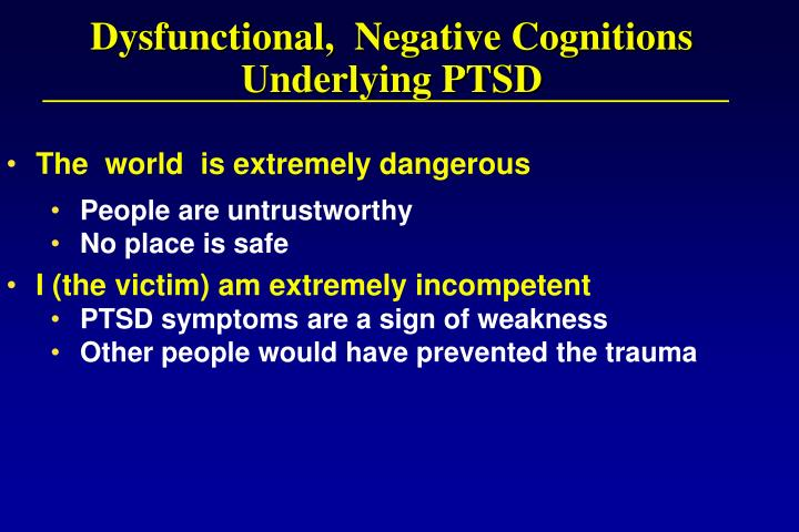 Dysfunctional,  Negative Cognitions