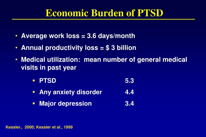 Economic Burden of PTSD