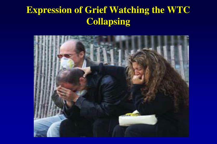 Expression of Grief Watching the WTC Collapsing