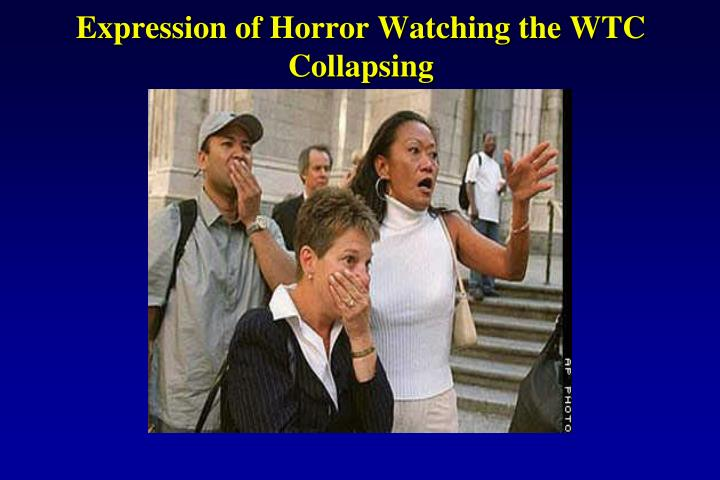 Expression of Horror Watching the WTC Collapsing
