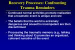 recovery processes confronting trauma reminders