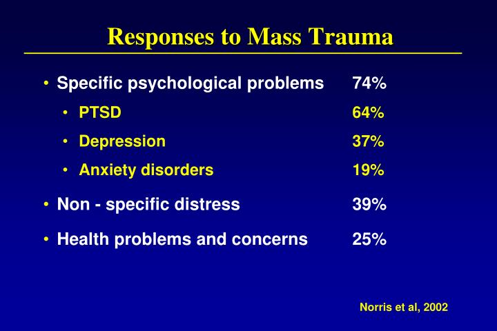 Responses to Mass Trauma