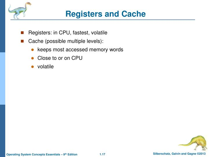 Registers and Cache