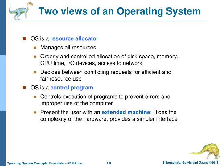 Two views of an Operating System