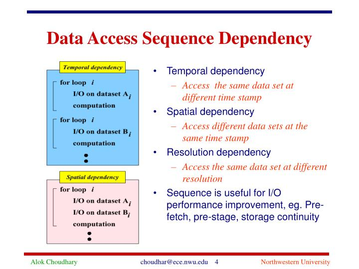 Data access sequence dependency