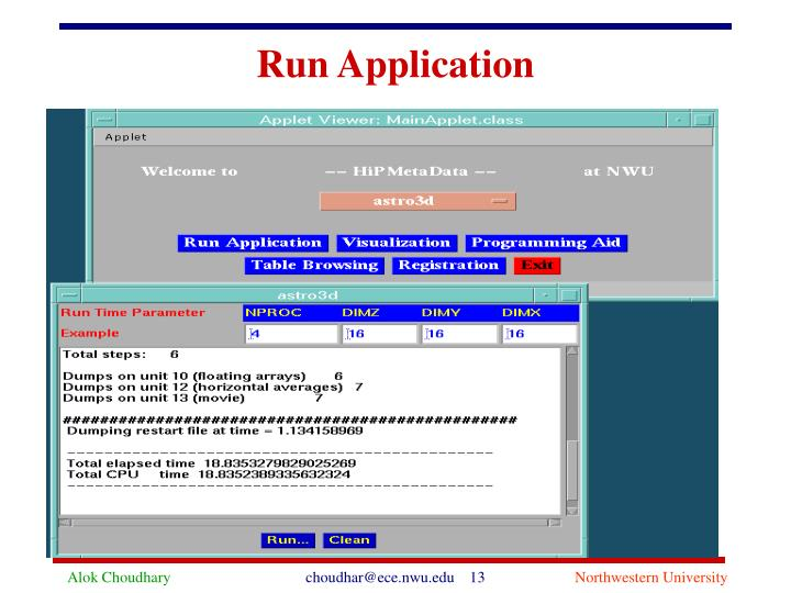 Run Application