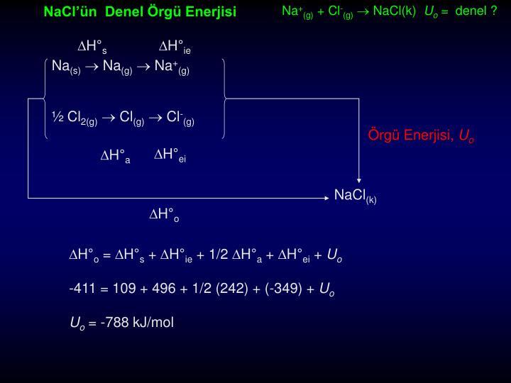 NaCl'ün  Denel Örgü Enerjisi
