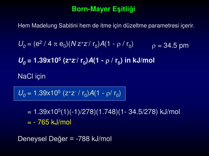 Born-Mayer