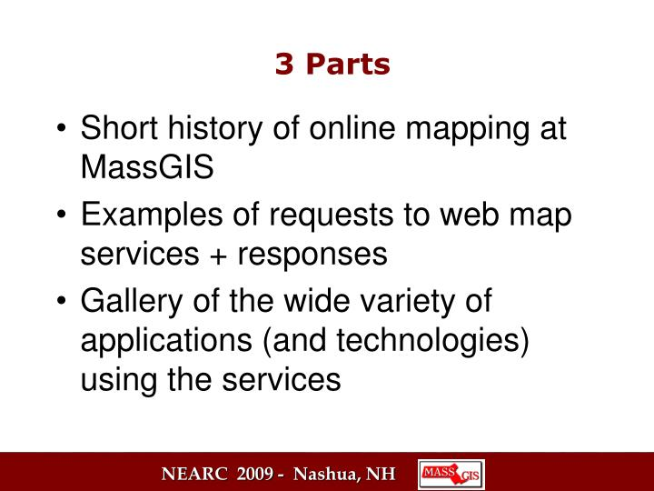 Short history of online mapping at MassGIS