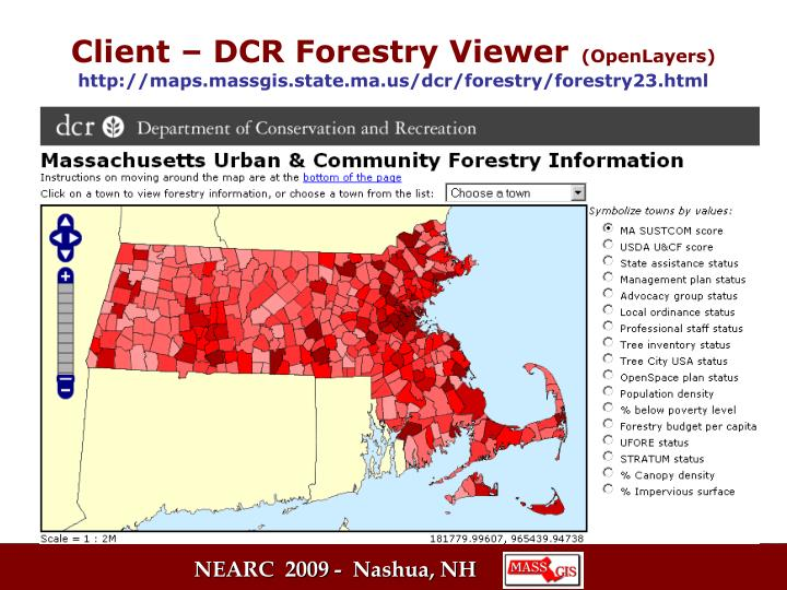 Client – DCR Forestry Viewer