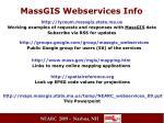 massgis webservices info