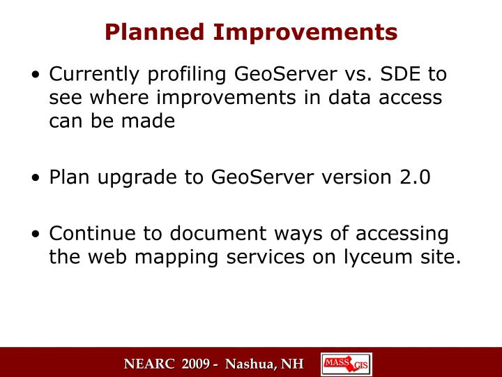 Currently profiling GeoServer vs. SDE to see where improvements in data access can be made