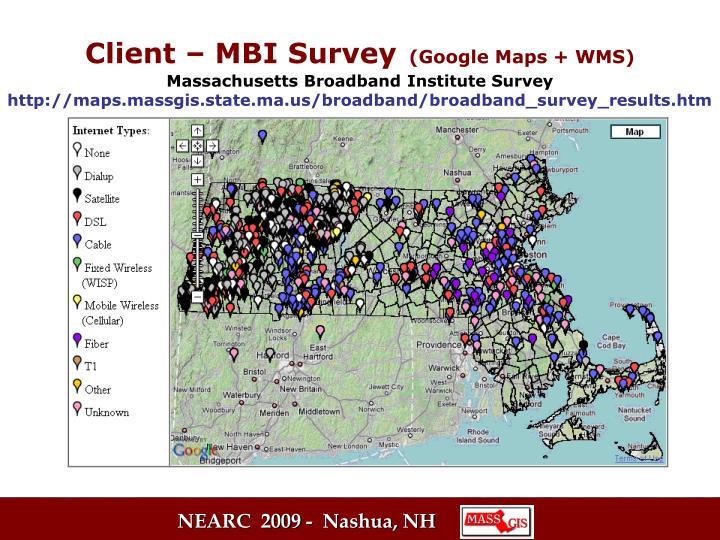 Client – MBI Survey