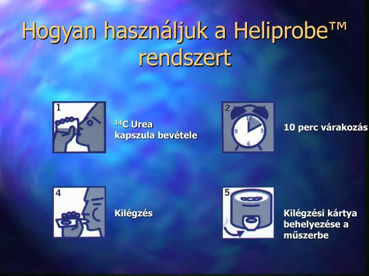 Hogyan használjuk a Heliprobe™ rendszert
