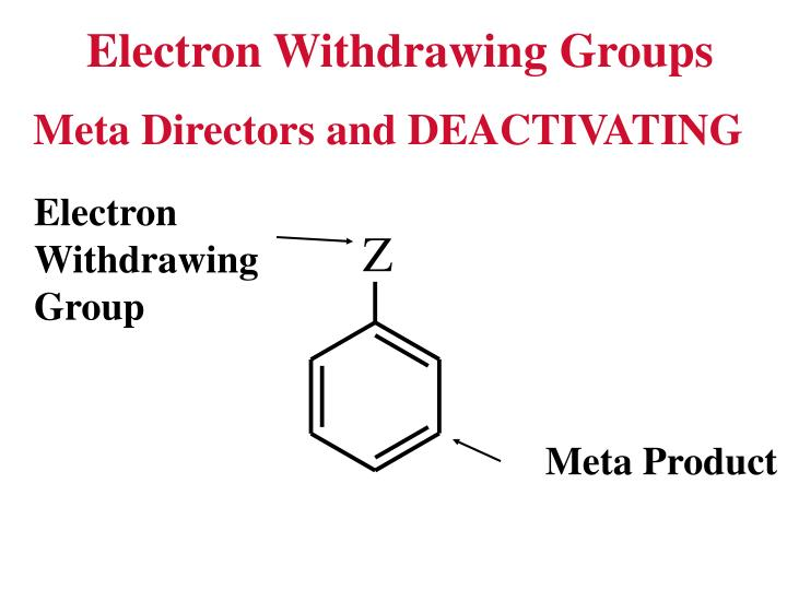 electron withdrawing groups list pdf
