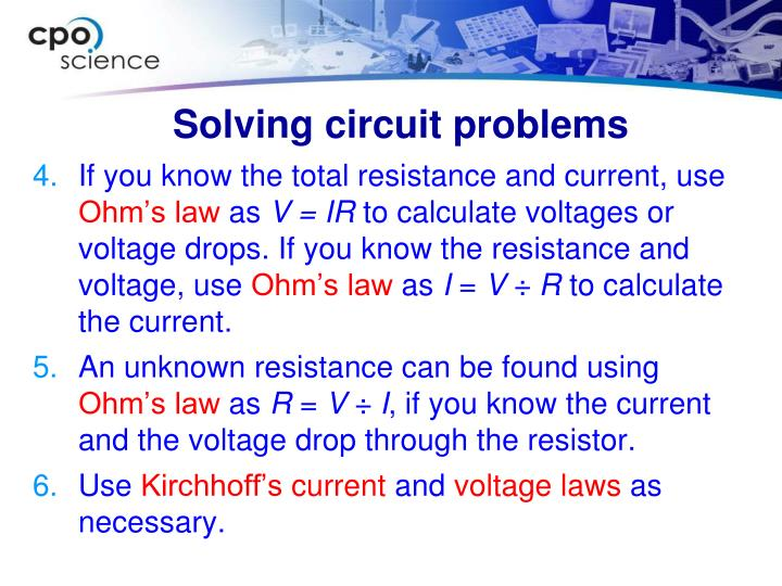 Solving circuit problems