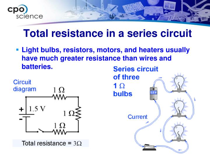 Light bulbs, resistors, motors, and heaters usually have much greater resistance than wires and batteries.