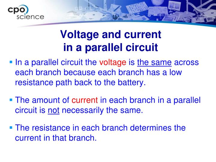 Voltage and current