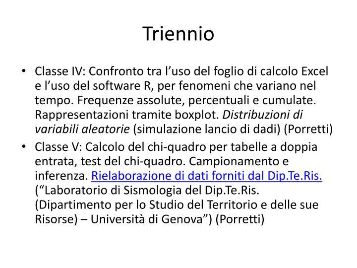 Triennio