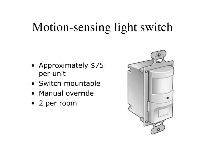 Motion-sensing light switch