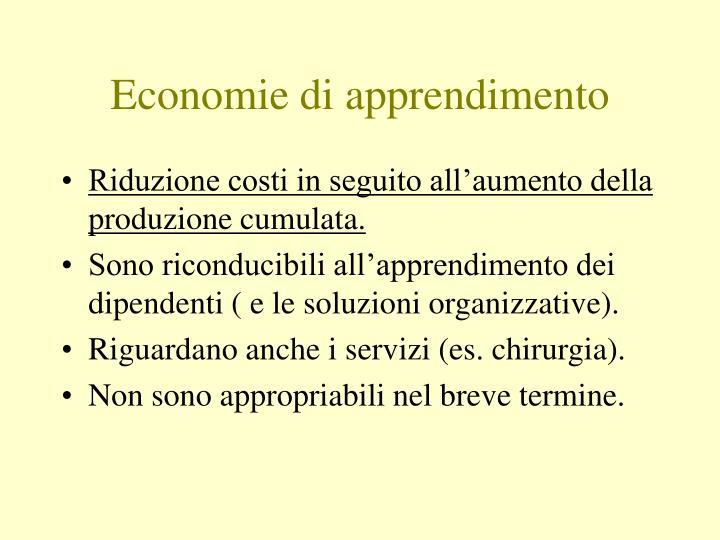 Economie di apprendimento