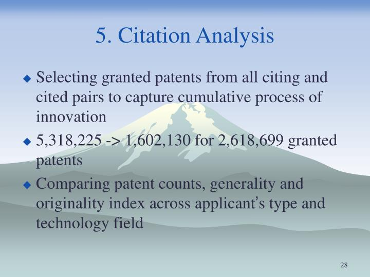 5. Citation Analysis