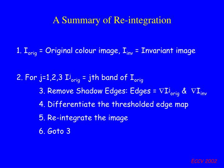 A Summary of Re-integration