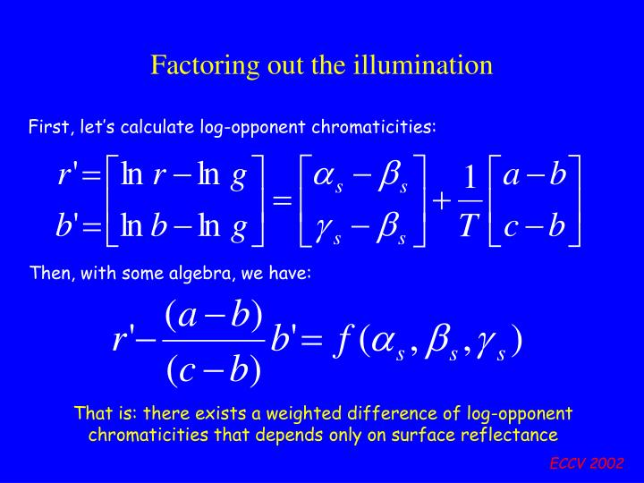 Factoring out the illumination