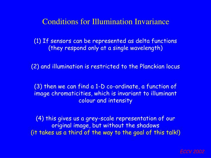 Conditions for Illumination Invariance