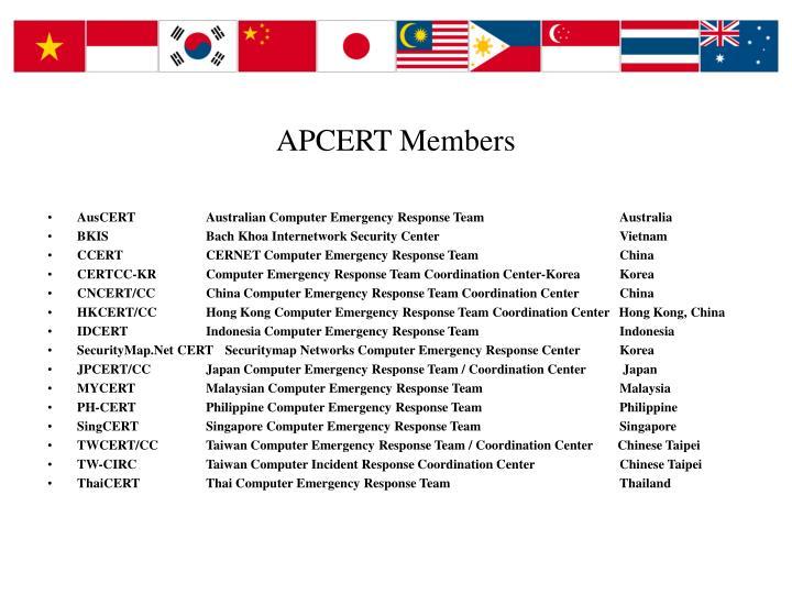 APCERT Members