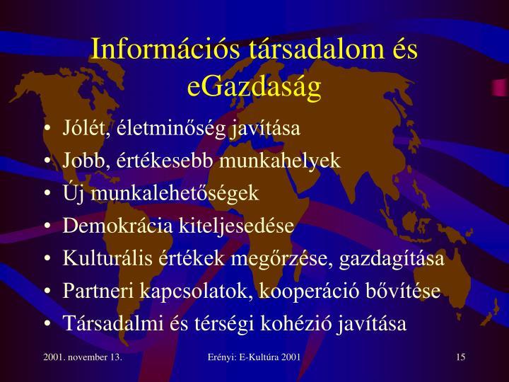 Információs társadalom és eGazdaság