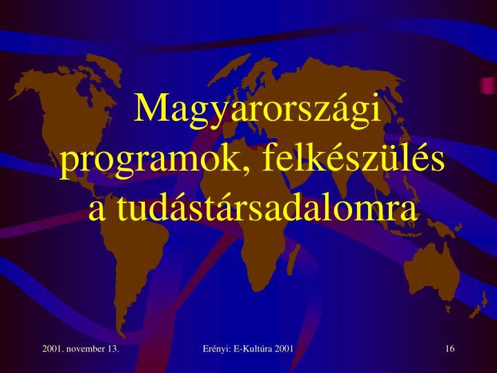 Magyarországi programok, felkészülés a tudástársadalomra