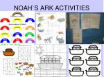 noah s ark activities