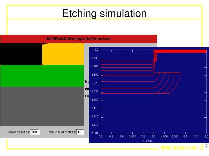 Etching simulation