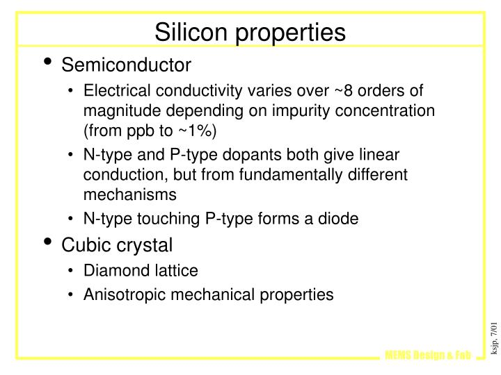 Silicon properties