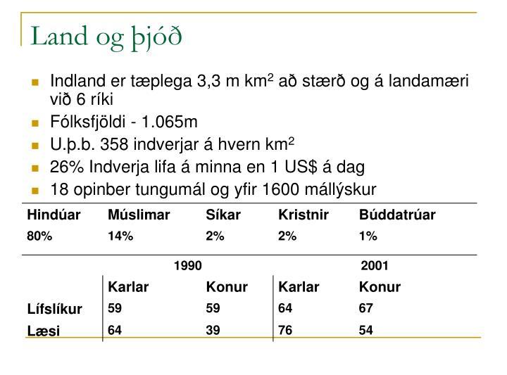 Land og þjóð
