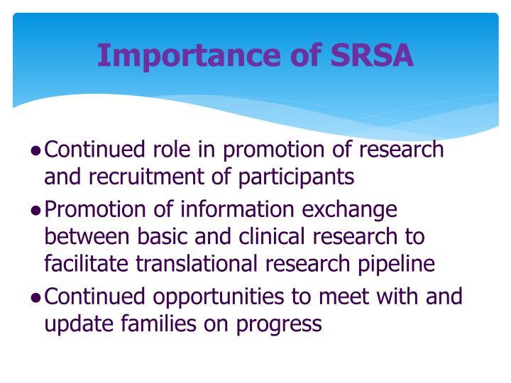 Importance of SRSA